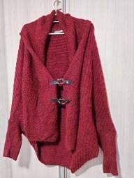 Casaco Lã Vermelho Ana Hickmann
