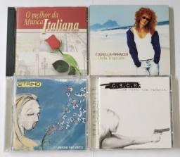 Lote 4 Cds - Música Italiana