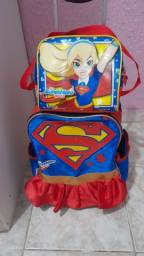 Mochila + lancheira super girl