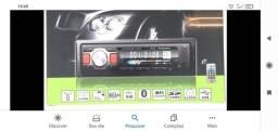 Aparelho som automotivo, entrada pen drive, bluetooth, cartão de memória,rádio  am e fm