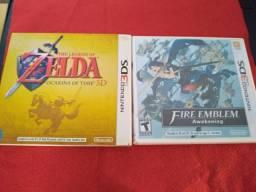 Jogos Nintendo 3ds Zelda Ocarina of time e Fire Emblem Awakening