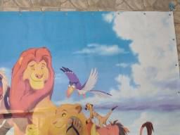 Painel  rei leão. 1:50x2:00