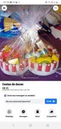 Lindas cestas de bombons
