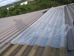 Manutenção em telhado vazando