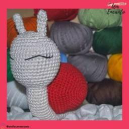 Caracol de Crochê - Amigurumi