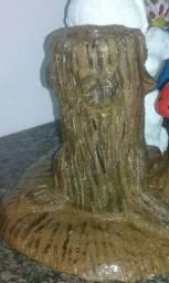 vaso tronco com a boneca cogumelo  todos de cimento
