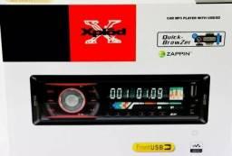 Auto Rádio de carro, mp3, pen driver, cartão controle(novo)