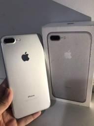 Iphone 7 Plus Prata 256GB COM CAIXA