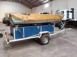 Barco motor reboque