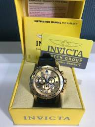 2371f72349a Relógio Invicta 100% Original banhado a ouro com garantia eterna. Trouxe  dos EUA