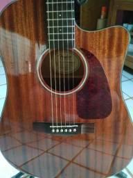 Violão Fender Cd 140 Tampo Maciço Mogno Cap Fishman