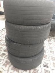 2 pneu 235/45/18 michelin e 2 pneu horace 225/45/18