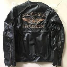 Jaqueta Harley Davidson 110 anos couro legítimo original