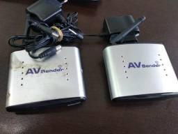 Transmissor e Receptor de áudio e vídeo AV Sender wireless