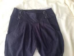 Calça saruel tipo jeans escuro M
