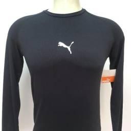 70e1b683b96 084 Camisa Camiseta Térmica Puma Manga Longa FPS 30 Proteção Solar Tam M Futebol  Original