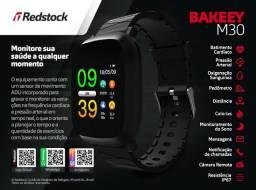 Pronta entrega em Maceió! Smartwatch Bakeey® M30 Pressão Arterial Batimentos - Preto