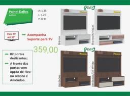 Painel 2 portas deslizantes Acompanha suporte para tv