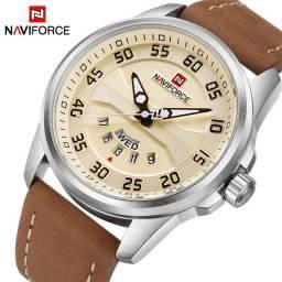 Relógio de pulso masculino analógico pulseira de couro original