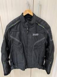 Jaqueta motociclista e Par de luvas X11 Novo