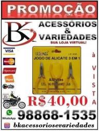 Jogo De Alicate Universal 3 em 1 Lelong(Loja BK Variedades)