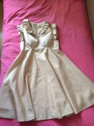 Vestido curto rosa envelhecido