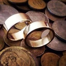 Aliança Noivado Casamento Moedas Antigas (Envio para todo o Brasil)