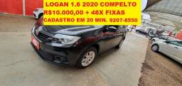 Logan 1.6 Compl. 2020 Impecavel. Ac Troca