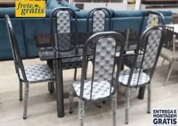 Preço Excelente!!Conjunto de Mesa 6 cadeiras nova na Caixa (Entrego e Monto)