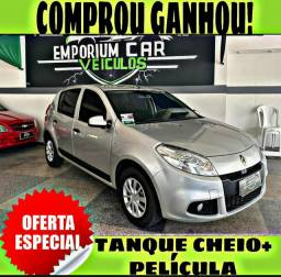 TANQUE CHEIO SO NA EMPORIUM CAR!!! RENAULT SANDERO 1.0 ANO 2013 COM MIL DE ENTRADA
