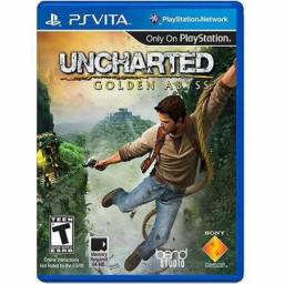 2 jogos Uncharted Golden Abyss e PlayStation All-Stars Battle Royale para PS-Vita.