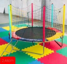 Cama elástica  Infantil- Pula pula - 2,44cm de diâmetro