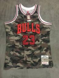 Regata Basquete NBA Chicago Bulls Camuflada