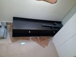 Nicho para sala rack para sala preto com vidro