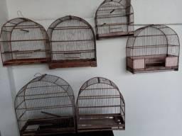 Gaiolas de madeira lote com 9 unidades