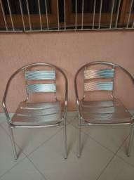 Vendo cadeiras de alumínio