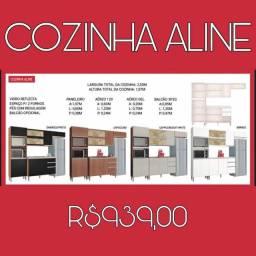 ARMÁRIO DE COZINHA COMPLETO ALINE