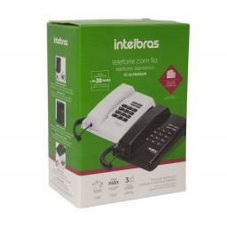 Telefone Intelbras com Fio TC50 Premium Preto- Novo
