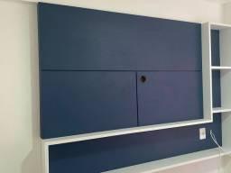 Painel de TV e cabeceira de cama em MDF
