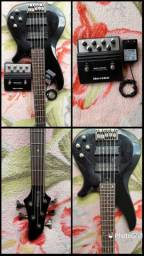 Bass Yamaha tbx com pedal e fonte Hartke