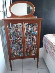 Cristaleira antiga + coleção completa