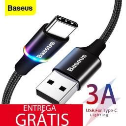 Cabo Baseus USB Celular android/Xiaomi/Redmi tipo C 3A 1 m