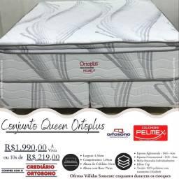 Conjunto Queen, cama com entrega grátis!!!