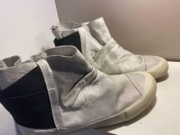 bota wrinkle osklen original couro