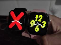 Promoção Smartwatch Iwo W26 Rose e Preto 44mm Em 3x sem juros