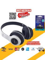 *Imperdivel*Fone de Ouvido Headphone Inova MP3 FM +Cartão De Memória 16GB