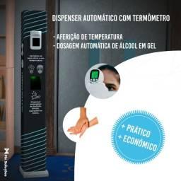 Totem dispenser automático de alcool em gel com termometro Automagel Temp