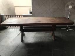 Mesa de madeira maciça peroba rosa