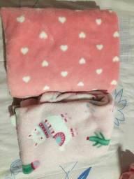 Kit dois cobertores bebê