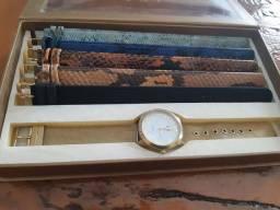 Relógio Dumont, troca pulseira, usado.